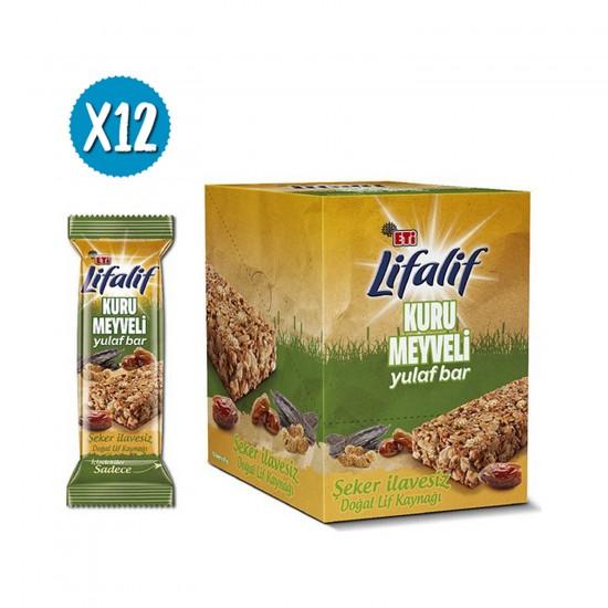 Eti Lifalif Dried Fruit Oat Bar 35 g x 12 Pieces