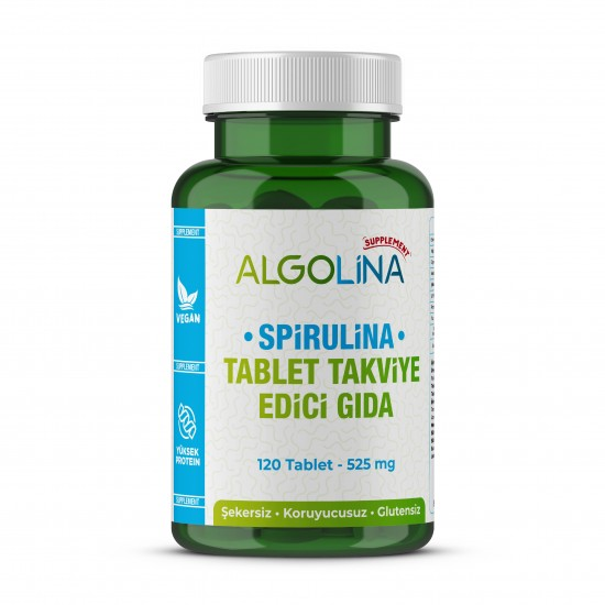 Algolina Spirulina Tablet 525 Mg -120 Tablets  (3 Pieces)