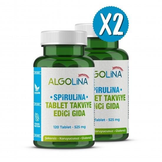 Algolina Spirulina Tablet 525 Mg - 120 Tablets (2 Pieces)