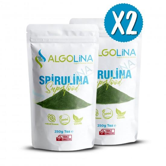 "Algolina Spirulina Powder 250 G (2) - ""Turkey's First 100% Domestic Production"""