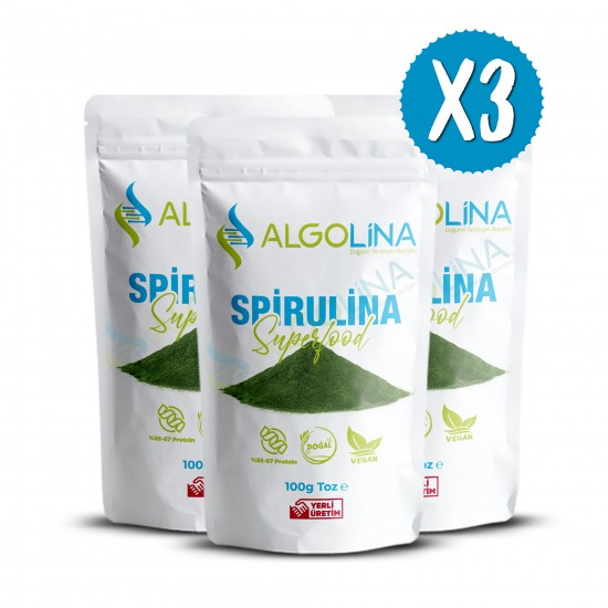 "Algolina Spirulina Powder 100 g (3) - ""Turkey's First 100% Domestic Production"""