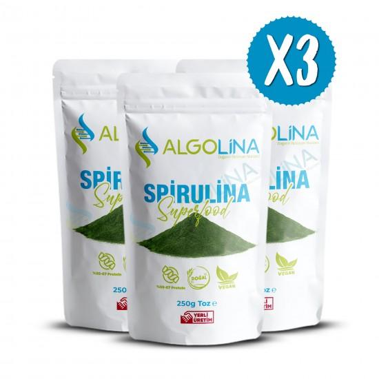 "Algolina Spirulina Powder 250 g (3) - ""Turkey's First 100% Domestic Production"""